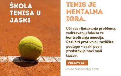 Upisi u tenis školu za djecu u TK Tenis Jaska – prijavi se!